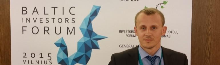 Klubo 'Pinigų srautas' prezidentas Darius Simanavičius Baltijos Investuotojų forume